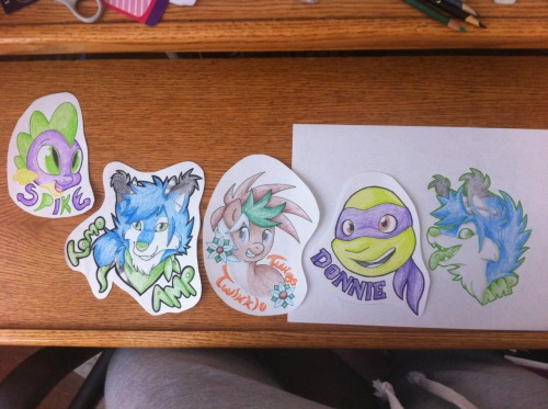 Badge lineup. These are tons of fun, I think I'm going to open commissions for these soon.
