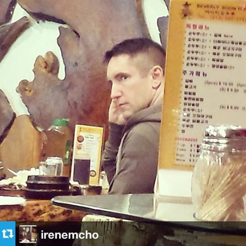 Creepy, but we like it! Trent Reznor eating soondubu at Beverly Soon Tofu in L.A.