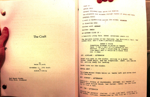 We just got a very early version of THE CRAFT (Film) script! It's pretty different, and we may incorporate some of it into the book for The Craft: The Musical.