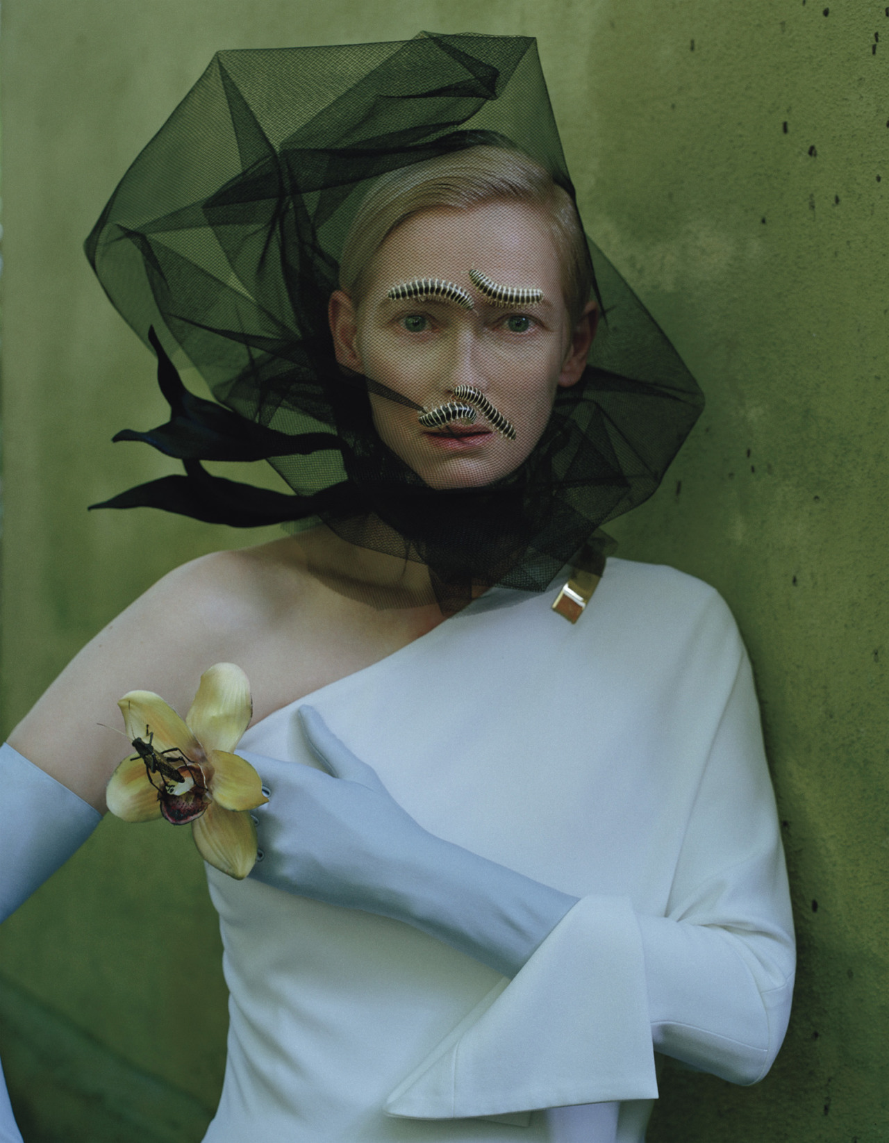Photo by Tim Walker Tilda Swinton is buggin' out.
