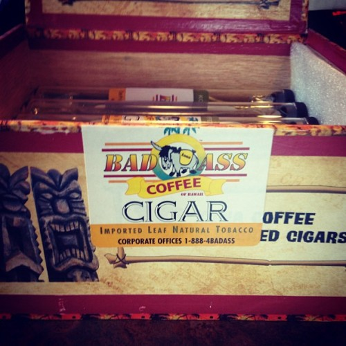 Coffee flavored cigars. 😍