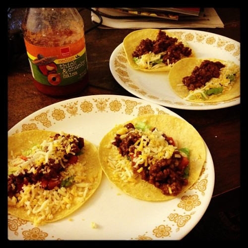 My wife and I are having TACO NIGHT! Wa. BAM. #married #tacosrule