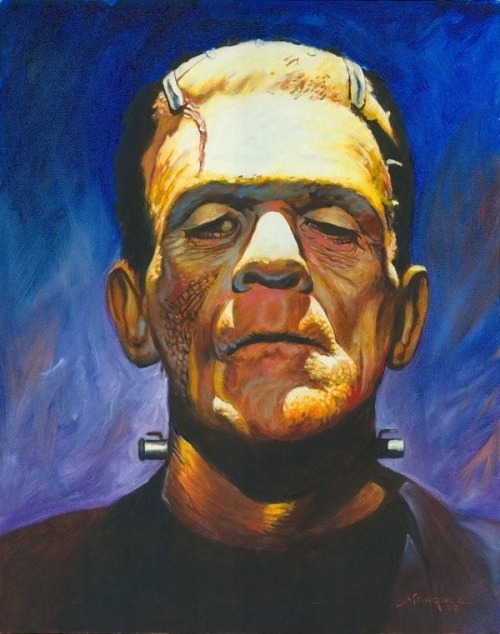(via Frankenstein's Monster, in Steve Davis's Horror Art Comic Art Gallery Room - 998931)