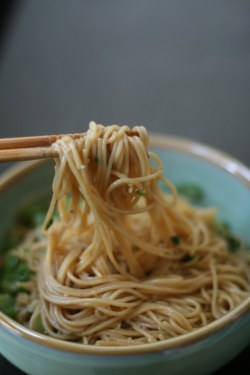 tastebones:  garlic scallion noodles