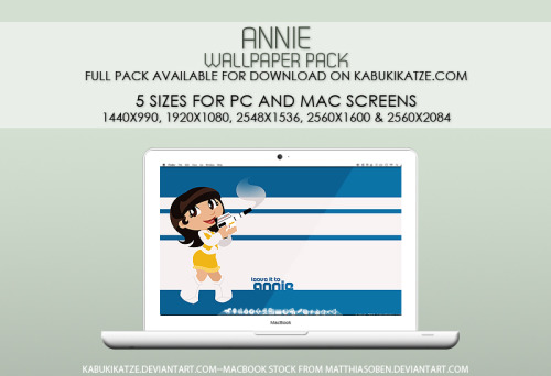 Wallpaper Pack: Annie from Shaider by =KabukiKatze