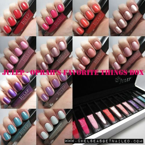 getnail-d:  Swatches of Julep's Favorite Things box on the blog! See it here.
