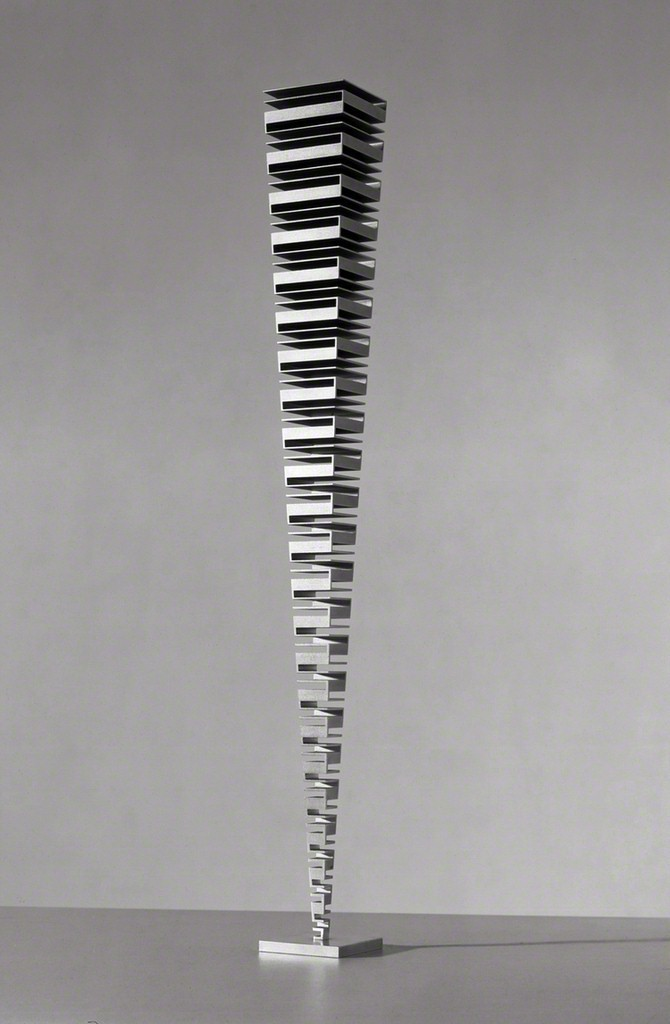 andrewharlow:  Martin WillingStacked Squares, 2000Titanium on adjustable stainless steel base