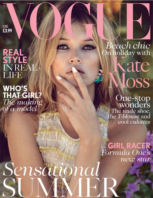 giveme-givenchy:  UK Vogue June 2013 : Kate Moss by Patrick Demarchelier  Kate