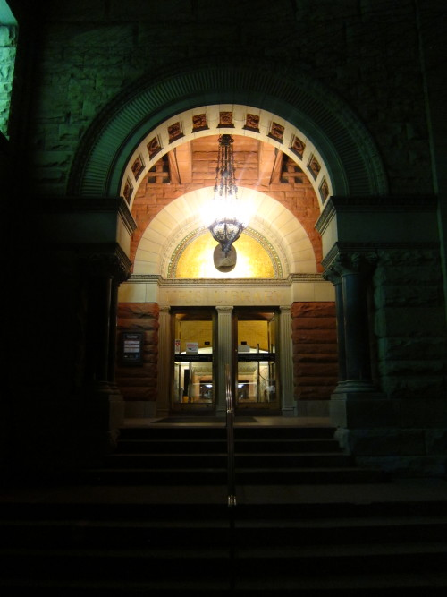Uris Library on a Summer Night