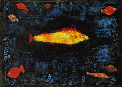 i12bent:  Birthday of one of the patron saints of OF - Paul Klee (Dec. 18, 1879 - 1940), a man who knew and loved color… Above: The Goldfish, 1925 - oil and watercolor on paper (Hamburger Kunsthalle)