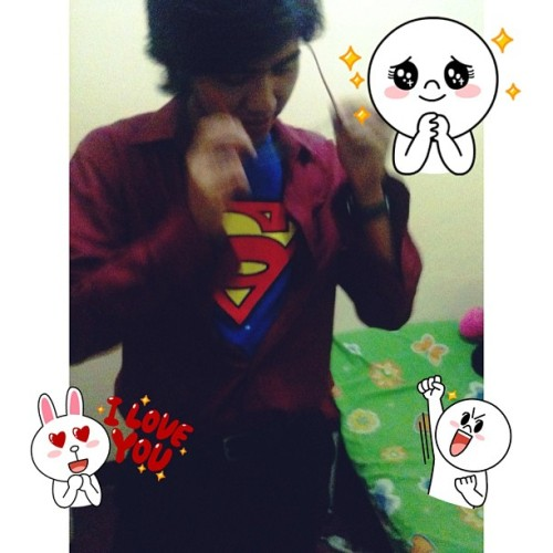 "thank you for saving the day, my day :""> i love you. #superMan"
