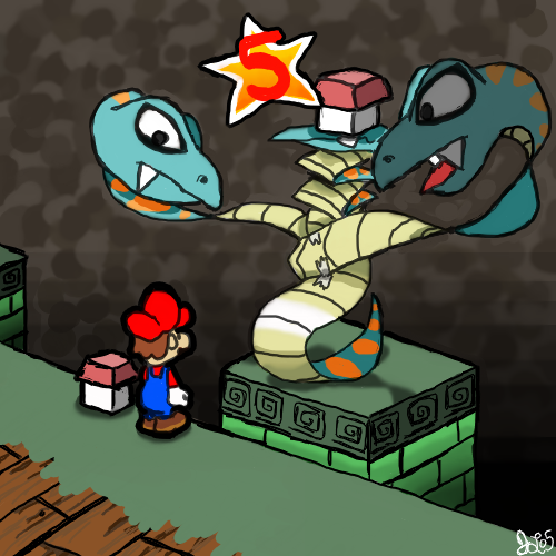 poisonmushroom-org:  suppermariobroth:  Paper Mario Bros. 2 by ~JoeyIsBetterThanDA  Would definitely play this.