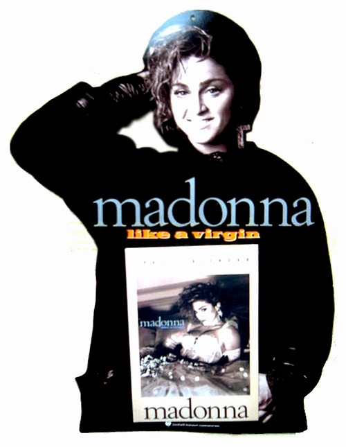 #Madonna Cardboard cut out ad by Curtis Knapp