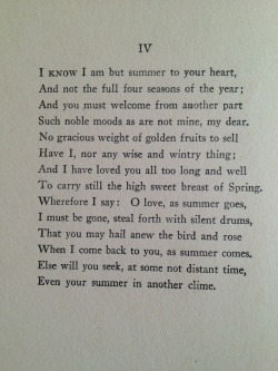s-urviv-e:  IV by EDNA ST. VINCENT MILLAY From THE HARP WEAVER AND OTHER POEMS