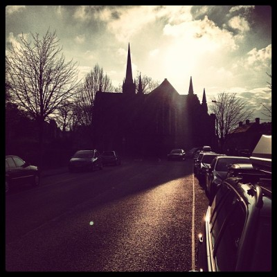 Pilgrimage #sunset #justnow  #igeire #igdaily #dublin6 #church #cloudporn #treeporn #city #ireland #lovely #loveit #luvish  (at Holy Trinity Church)