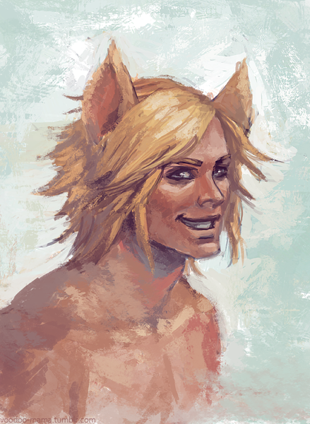generic catboy I always seem to paint, sketch.