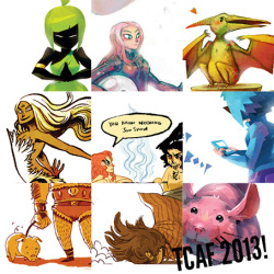 Just a tiny preview of the odds and ends I'll have at TCAF this year! I'll be with @faitherinhicks and @Miriam_Gibson so keep a look out and say hi!