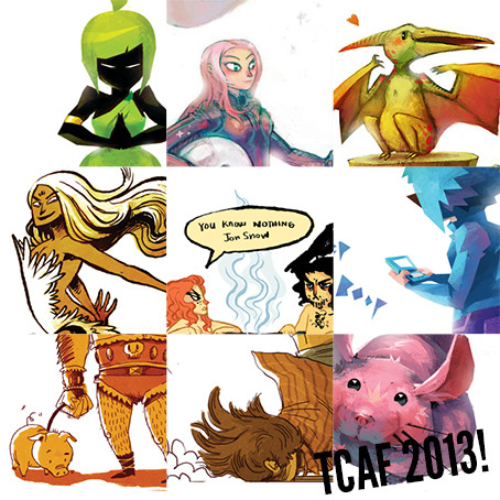 neomonki:  Just a tiny preview of the odds and ends I'll have at TCAF this year! I'll be with @faitherinhicks and @Miriam_Gibson so keep a look out and say hi!  TCAaaaaFs. We will be there soon. Nothing Can Possibly Go Wrong is debuting! Oh, it shall be crazypants. I <3 you Noreens!