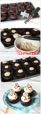 gastrogirl:  chocolate chip cookie dough cupcakes.