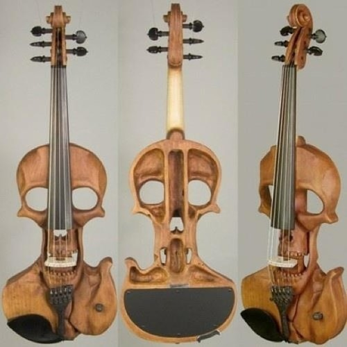 So creative! #art #artsy #skulls #creativity #instruments #music #design #wood #beautiful