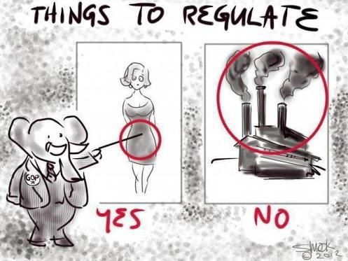 danielextra:  THINGS TO REGULATE…according to the GOP   Think about it!