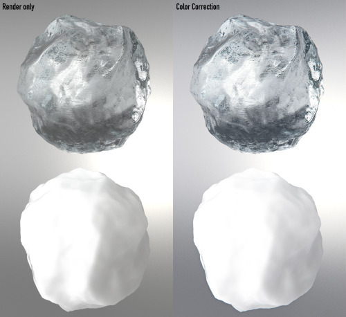 Ice & snow material test V-Ray