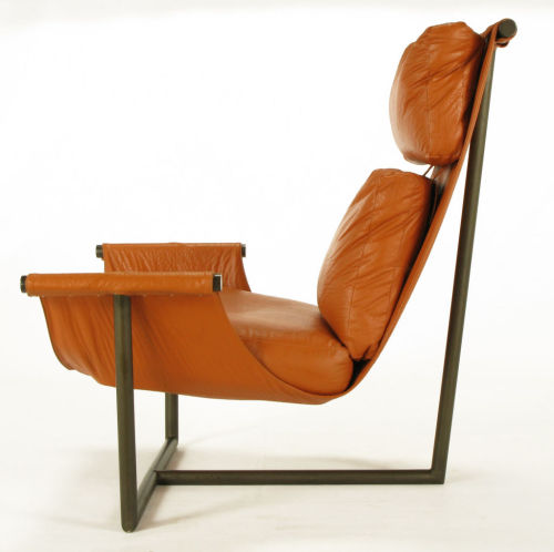 Steel T Based Metro Furniture Corp Sling Chair attr. Brian Kane