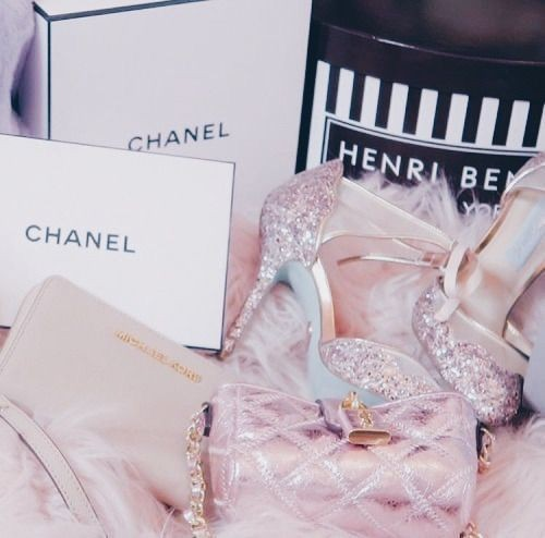 chanel silver heels sparkly pink aesthetic girly things girly aesthetic