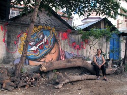 Global Street Artist Places Local People Next to His Murals Eugene, mymodernmet.com French street artist Seth Globepainter travels around the world, creating large scale murals and placing local city dwellers next to them. Whether in India, China, Mexico, or other countries, this adds a human element to Goldpainter's artwork and…