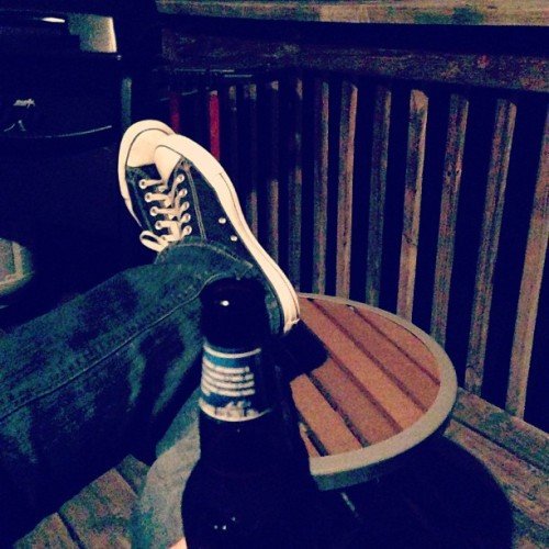 Finally, a Friday night nice enough to sit out on my fake deck late night. One of my favorite things ever. #spring