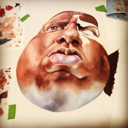 It's coming along #biggiesmalls #art #artwork #oilpainting #painting #notorious #album #hiphop