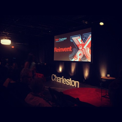 Getting seated, ready for a brilliant day #TEDxCharleston