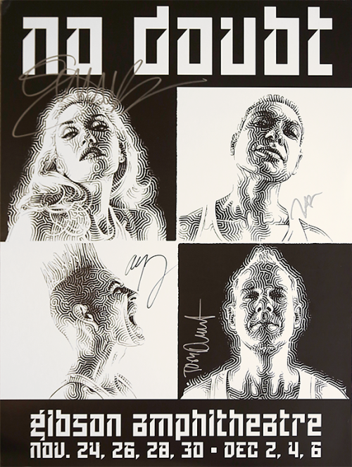 "No Doubt recently performed a run of seven shows at the Gibson Amphitheatre in Los Angeles, California. Fans can now relive every night by listening to the playlists below. These ""Seven Night Stand"" playlists each contain the band's entire setlist, in the order that it was performed. Listen below for the chance to win a ""Seven Night Stand"" concert poster signed by the entire band! Night 1:  Night 2:  Night 3:  Night 4:  Night 5:  Night 6:  Night 7:"