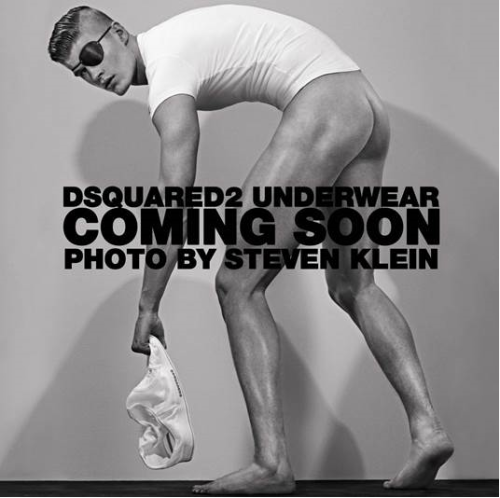 One heck of a teaser image from @DSquared2 for its new underwear line - sure is one way to let everyone know! Got to love that eye patch too.