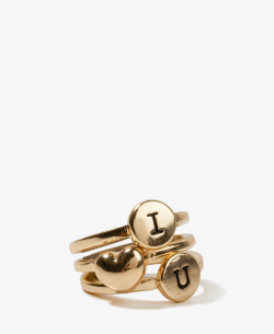 wantering: Forever 21 I Heart U Ring Set