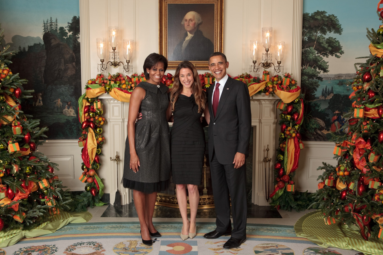 Katherine and the First Family. No holiday picture this year will top this.
