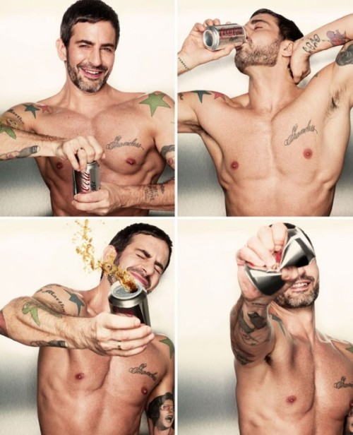 Marc Jacobs is stamping his brand all over Diet Coke (Coca Cola Light internationally), as their new Creative Director. Ad here