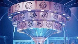 tomwhoose:  You may or may not know, that the Gallifreyan symbols around the outside of the top of the new TARDIS console, are actually names of all the companions in Doctor Who. One word, feels.