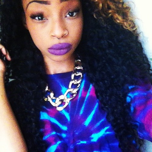 I know the purple lips is extra but I just had to take a picture lol