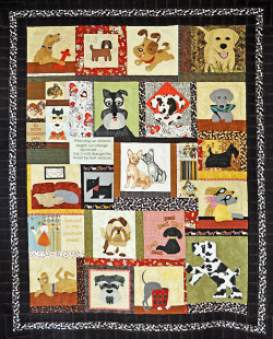 "VOLUNTEERS CREATE DOG QUILT TO AID HUMANE SOCIETY - ""At least 35 quilters responded, and the result is two large quilts, one for cat lovers titled ""Forever Home,"" measuring 