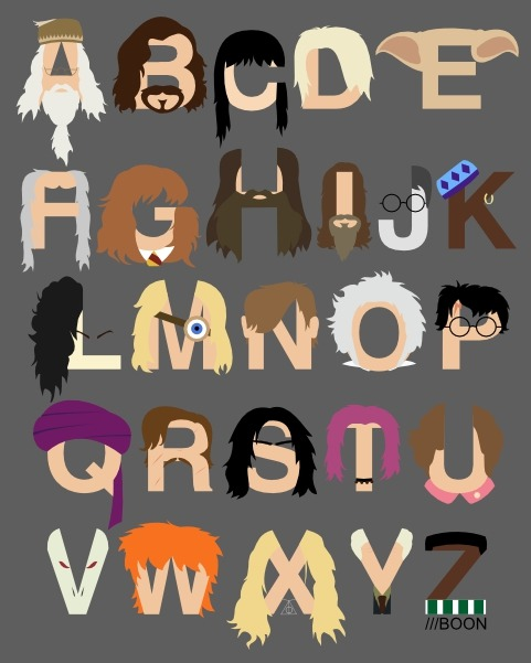 Harry Potter Alphabet by *mbaboon