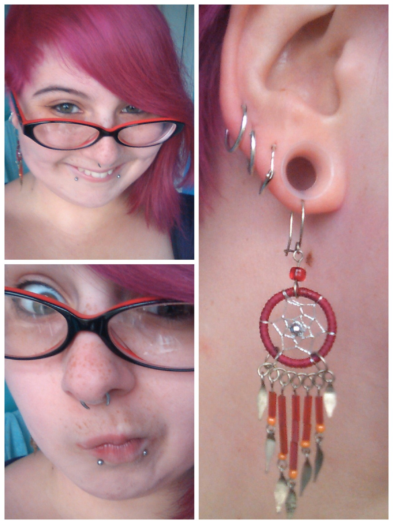Freshly recoloured hair and a pair of earrings I recently rediscovered, which look awesome with kaos earskins!