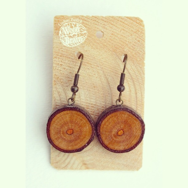 lindsayzuelich:  Wood Brain Earrings #etsy #wood #woodenjewelry #woodearrings #earrings #woodart #woodjewelry #wood_brain #eucalyptus #woodbrain #handcut #handmade