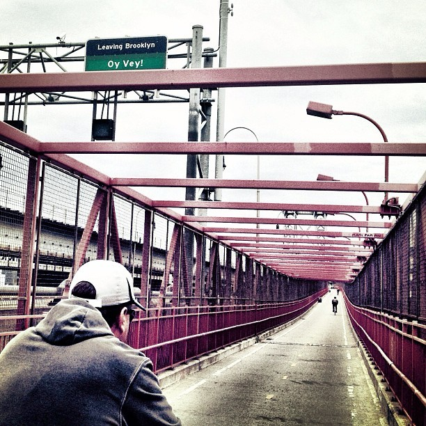 Little hill work on the Williamsburg Bridge.