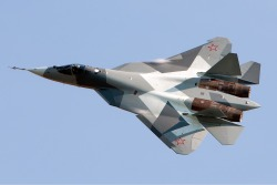 Sukhoi PAK FA T-50. For some reason, the Russians always have the cooler looking planes.