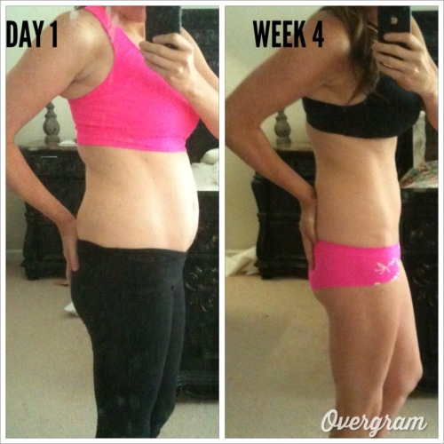 eatfithappiness:  onefitmodel:  beforeandafterweightloss:  I decided to make a lifestyle change! After 4 weeks of eating clean, working out and keeping myself motivated this is what happened! I'm 5'5 and not sure on my weight I try to focus on how I look. I have a cruise in 17 weeks so I'll be documenting my progress! Thanks for all your support and inspiration! Lets do this! We can do anything we put our mind to! Chloethefitgirl  FOUR WEEKS HOLYS MOLY  WOAH