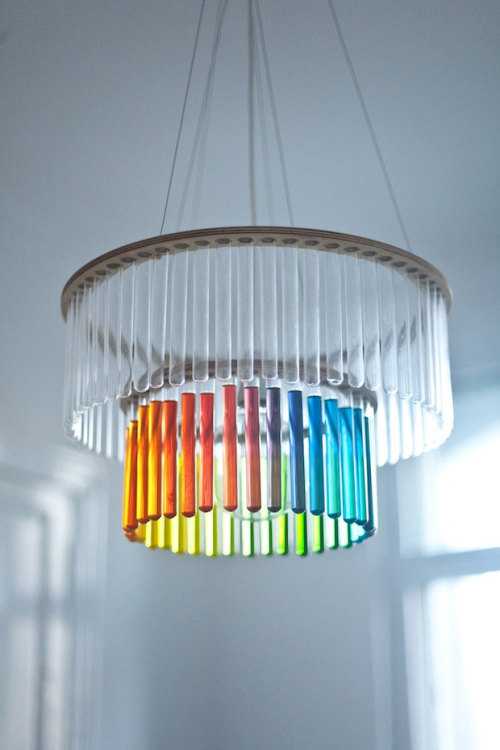 Test tube chandelier! #nerd #lighting #science