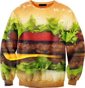 (via Mr. Gugu & Miss Go — Hamburger sweater)  Yes.