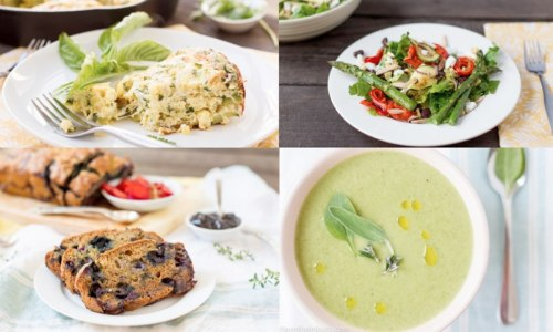 treehugger:  15 Easy recipes for eating local and vegetarian in May Eating healthful meals during busy weekdays can be as easy as throwing a few in-season ingredients into a casserole dish and putting it in the oven. We've gathered 10 great late-Spring recipes from soups and sautés, from salads to breads. Enjoy!