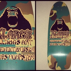 Deck of the Day | X-Large | BullDog Skates | Art By Wes Humpston  @xlarge @weshumpston @bulldogskates #sk8face